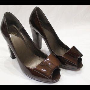 Women's Stuart Weitzman Brown Platform Heel, 7.5